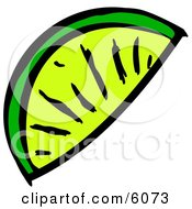 Lime Wedge Slice Clipart Picture by djart