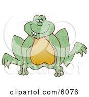 Goofy Looking Frog Jumping