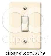 Standard Household Rocker Light Switch Clipart Picture by djart