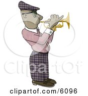 African American Man Playing A Trumpet