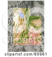 Royalty Free RF Clipart Illustration Of A Shaded Relief Map Of The State Of Utah