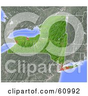 Royalty Free RF Clipart Illustration Of A Shaded Relief Map Of The State Of New York