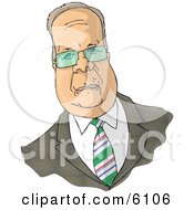 Caricature Of Karl Christian Rove Clipart Picture