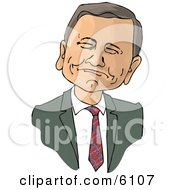 Chief Justice Of The United States John Roberts Clipart Picture by djart