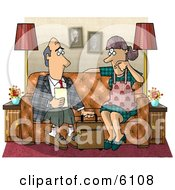 Male Life Insurance Sales Agent Talking To A Client Clipart Picture