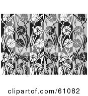 Royalty Free RF Clipart Illustration Of A Background Of Gray White And Black Vertical Panels by pauloribau