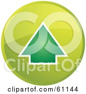 Royalty Free RF Clipart Illustration Of A Round Green Up Arrow Internet Browser Button