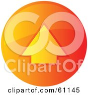 Royalty Free RF Clipart Illustration Of A Round Orange Uploading Internet Browser Button by Kheng Guan Toh