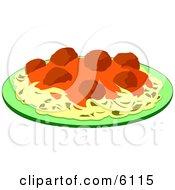 Spaghetti Meatballs And Marinara Italian Food On A Plate