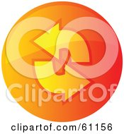 Royalty Free RF Clipart Illustration Of A Round Orange Refresh Internet Browser Button by Kheng Guan Toh