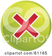 Royalty Free RF Clipart Illustration Of A Round Green Stop Internet Browser Button by Kheng Guan Toh