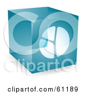 Royalty Free RF Clipart Illustration Of A Transparent Blue 3d Pie Chart Cube