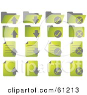 Royalty Free RF Clipart Illustration Of A Digital Collage Of Green Word Document Icons by Kheng Guan Toh