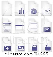 Royalty Free RF Clipart Illustration Of A Digital Collage Of Curling Pages Of Business Documents by Kheng Guan Toh
