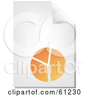 Royalty Free RF Clipart Illustration Of A Curling Page Of An Orange Pie Chart Business Document by Kheng Guan Toh