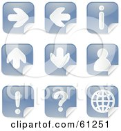 Royalty Free RF Clipart Illustration Of A Digital Collage Of Blue Arrow Peeling Sticker Icons
