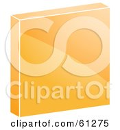 Royalty Free RF Clipart Illustration Of A 3d Orange Stop Icon by Kheng Guan Toh