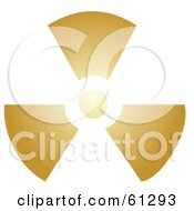 Royalty Free RF Clipart Illustration Of A Glowing Brown Radiation Symbol On White