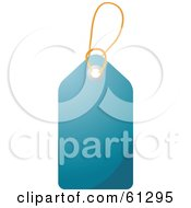 Royalty Free RF Clipart Illustration Of A Shiny Dark Blue Blank Price Tag With A String
