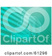 Royalty Free RF Clipart Illustration Of A Transparent Big Rig Over A Lined Teal Background