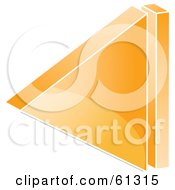 Royalty Free RF Clipart Illustration Of A 3d Orange Back Arrow Icon Version 2