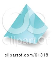 Royalty Free RF Clipart Illustration Of A 3d Blue Pyramid Shape