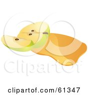 Royalty Free RF Clipart Illustration Of A Sliced Green Apple On Apple Juice