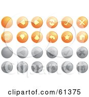 Royalty Free RF Clipart Illustration Of A Digital Collage Of Orange And Gray Internet Browser Buttons by Kheng Guan Toh