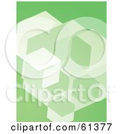 Royalty Free RF Clipart Illustration Of A Green Cubic Background