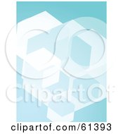 Royalty Free RF Clipart Illustration Of A Blue Cubic Background