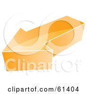 Royalty Free RF Clipart Illustration Of A 3d Orange Arrow Icon Version 1
