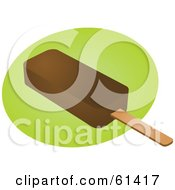 Royalty-free (RF) Clipart Illustration of a Fudgesicle On A Green And White Background by Kheng Guan Toh #COLLC61417-0130