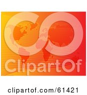 Royalty Free RF Clipart Illustration Of A Gradient Orange Flow Atlas Background Version 1