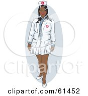 Royalty Free RF Clipart Illustration Of A Beautiful Nurse Woman In A Short Skirt