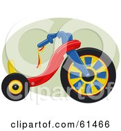 Royalty Free RF Clipart Illustration Of A Big Wheel Tricycle Bike by r formidable