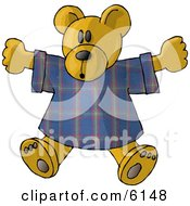 Teddy Bear Stuffed Animal In A T Shirt Clipart Picture by djart