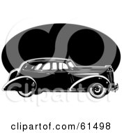 Royalty Free RF Clipart Illustration Of A Black Vintage Car