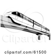 Black And White Monorail Car Speeding By