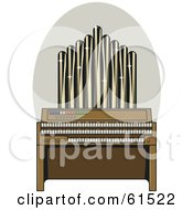 Royalty Free RF Clipart Illustration Of A Sparkling Pipe Organ