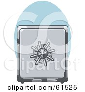 Royalty Free RF Clipart Illustration Of A Locked And Secured Metal Safe Box