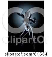 Nude Female Ninja Holding A Sword