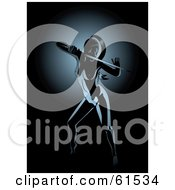 Royalty Free RF Clipart Illustration Of A Nude Female Ninja Holding A Sword
