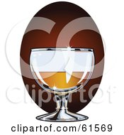 Royalty Free RF Clipart Illustration Of A Sparkling Glass Of Brandy by r formidable