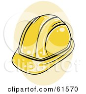 Royalty Free RF Clipart Illustration Of A Shiny Yellow Construction Hardhat