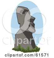 Royalty Free RF Clipart Illustration Of A Historical Easter Island Moai Statue by r formidable
