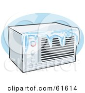 Royalty Free RF Clipart Illustration Of An Iced Over Air Conditioner by r formidable #COLLC61614-0131