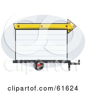 Royalty Free RF Clipart Illustration Of A Blank White Trailer Park Sign With An Arrow