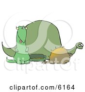 Green Dinosaur Herd Clipart Picture