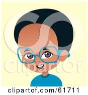 Little African American Boy Wearing Glasses