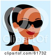 Royalty Free RF Clipart Illustration Of A Friendly African American Woman Wearing Sunglasses